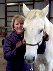 Penny enjoys horse  therapy which is also called Equine-Assisted Therapy.